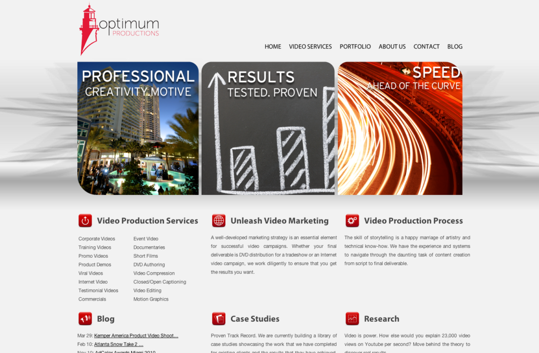 Optimum Productions » Blog Archive The New and Improved OP